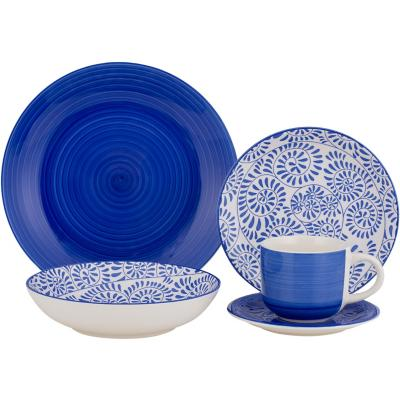 Juego de vajilla 30 piezas azul