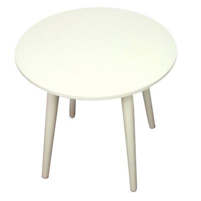 Mesa redonda crema