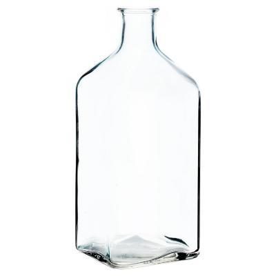 Botella decorativa vidrio transparente