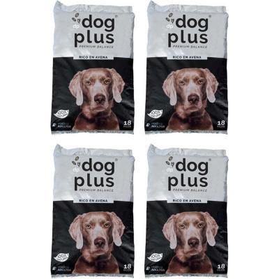 Pack 4 alimento para perro adulto 18 kg rico en avena