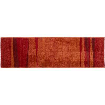 Alfombra pasillo océano 60x200 cm rojo