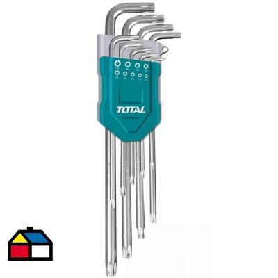 Juego llave hexagonal torx 9 pcs industrial
