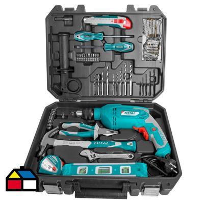 Juego herramientas 101 piezas + taladro de impacto