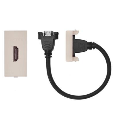 Conector hdmi cordón 25 cm s22 beige