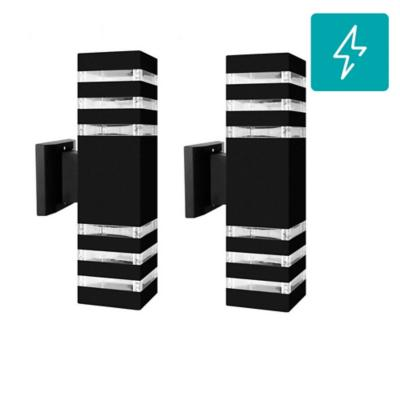 Pack 2 aplique led deco aluminio negro