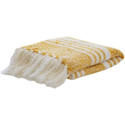 Manta líneas mostaza/blanco 125x150 cm
