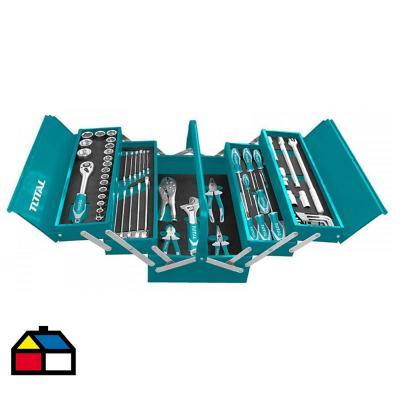 Juego de herramientas 59 piezas caja metalica