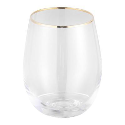 Vaso de Borde Dorado 500 ml