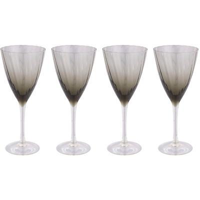 Set de 4 Copas Vino Tinto Gris Degradé 350 ml