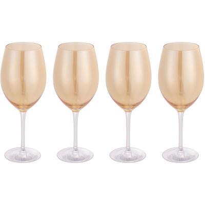 Set de 4 Copas Vino Tinto Ámbar 450 ml