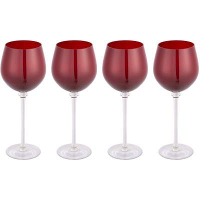Set de 4 Copas Vino Tinto Roja 430 ml