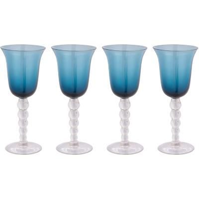 Set de 4 Copas Vino Balloon Azul 250 ml