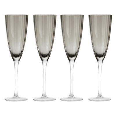 Set de 4 Copas Champaña Gris Degradé 250 ml