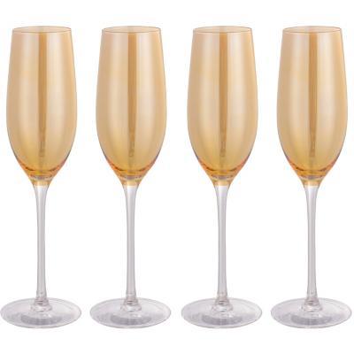 Set de 4 Copas Champaña Ámbar 200 ml