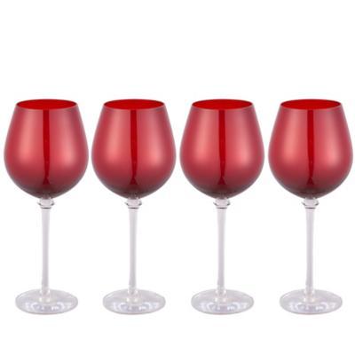 Set de 4 Copas Vino Tinto Roja 580 ml