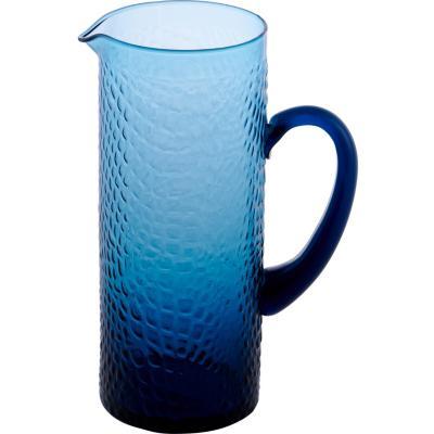 Jarro Vidrio Azul Martillado