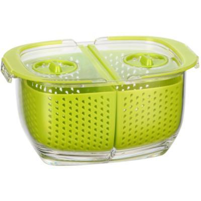 Contenedor de alimentos acrílico 480 ml verde