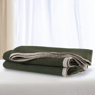 Frazada lana doble faz especial 1.5 verde vicuña