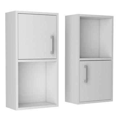 Set 2 muebles de baño 30x16x60 cm blanco
