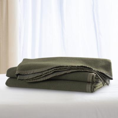 Frazada 100% lana doble faz 1.5 p verde marengo