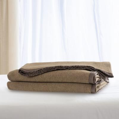 Frazada 100% lana doble faz 1.5 p vicuña blanco