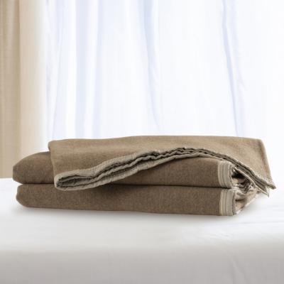 Frazada 100% lana doble faz 1.5 p vicuña rosa