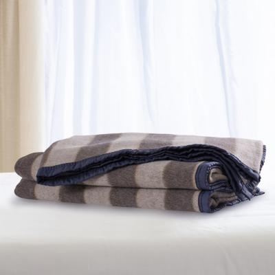 Frazada lana color listada 1.5p melange blanco