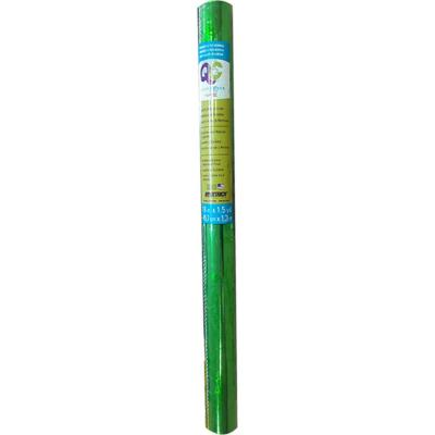Papel adhesivo holograma verde 45x130 cm