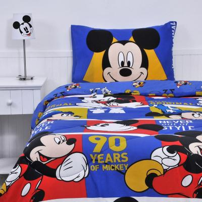 Plumón+sábana mickey multicolor 1,5 plazas