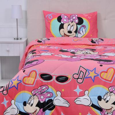 Plumón+sábana minnie multicolor 1,5 plazas