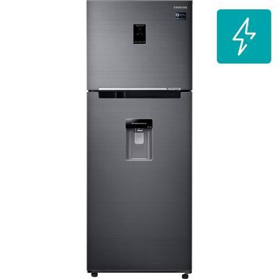Refrigerador top mount 394 litros black stainless