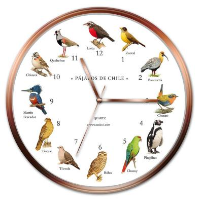 Reloj pared pajaros de chile
