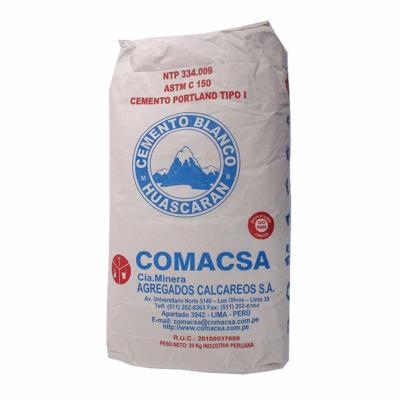 Cemento blanco huascaran saco 20 kg