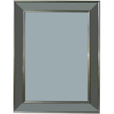 Espejo borde plateado 45x60 cm