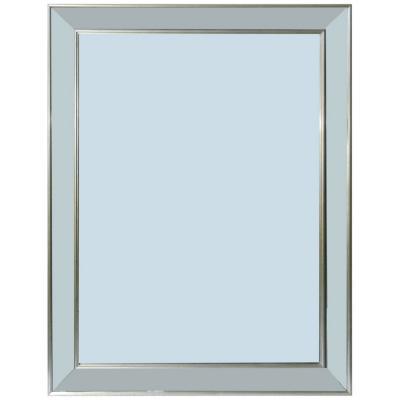 Espejo borde plateado 60x80 cm