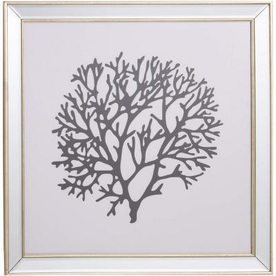 Cuadro coral negro 50x50 cm