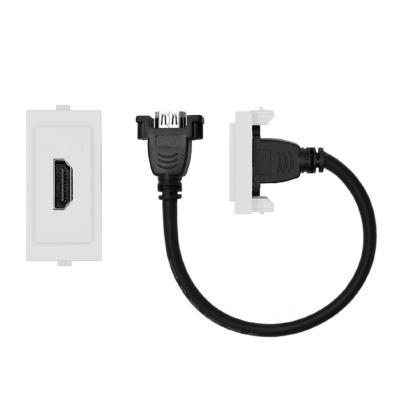 Conector hdmi cordón 25 cm s17 blanco