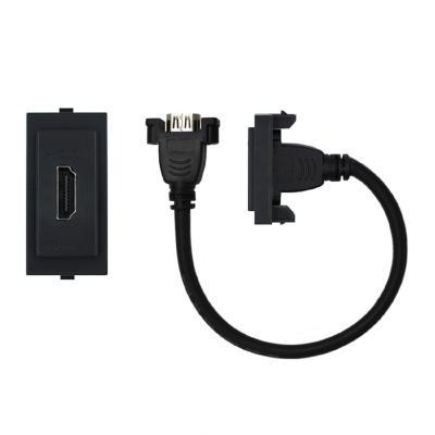 Conector hdmi cordón 25 cm s17 noir