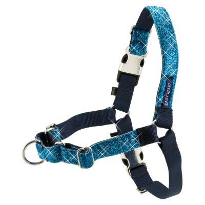 Arnés para perro talla M de nylon Azul Easy Walk