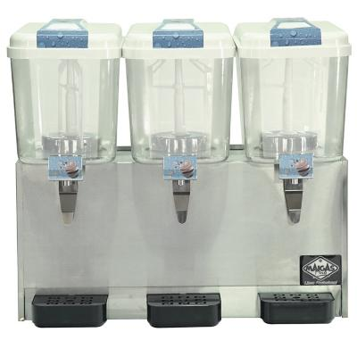 Dispensador de jugos 3 depósitos 18 litros inox