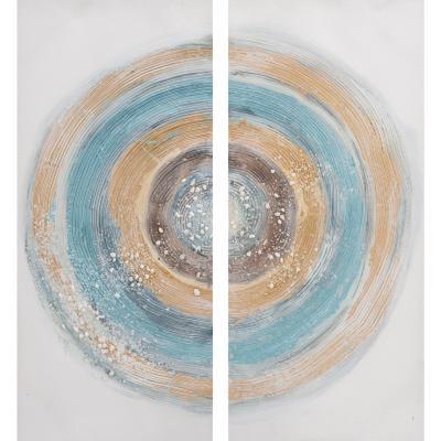 Set 2 oleos aureola 45x100 cm
