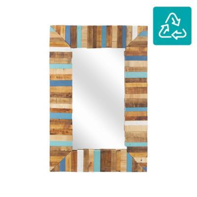 Espejo madera reciclada colores 90x60cm