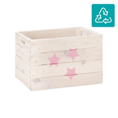 Cajón madera reciclada con ruedas