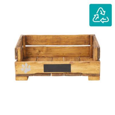 Cama mascota madera reciclada 65x45 cm