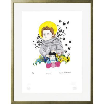 Cuadro Santo artista Paloma Maturana 56x71 cm