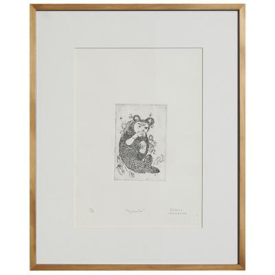 Cuadro Salmón artista Paloma Maturana 42,5x52,5 cm