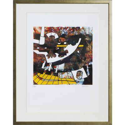 Cuadro Fábrica de Paté de Patos artista Bororo 68x88 cm