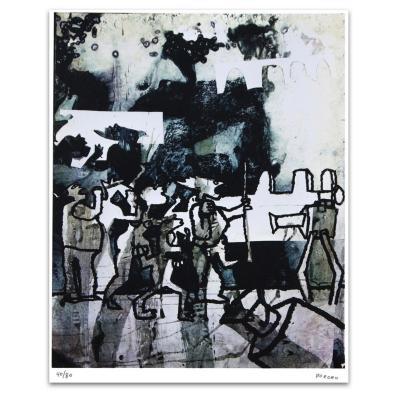Grabado Protesta artista Bororo 68x88 cm