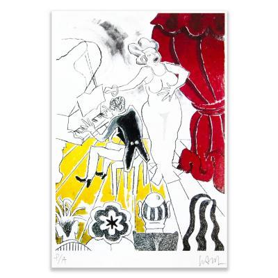 Grabado Cantante artista Andrés Gana 50x70 cm