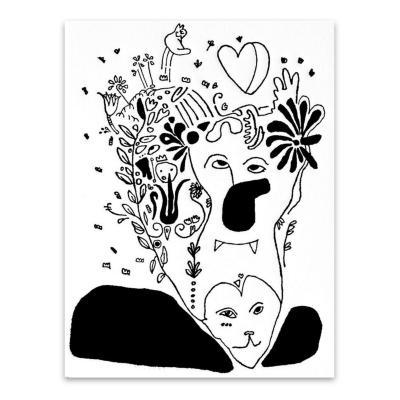 Grabado Victoria artista Paloma Maturana 35x50 cm
